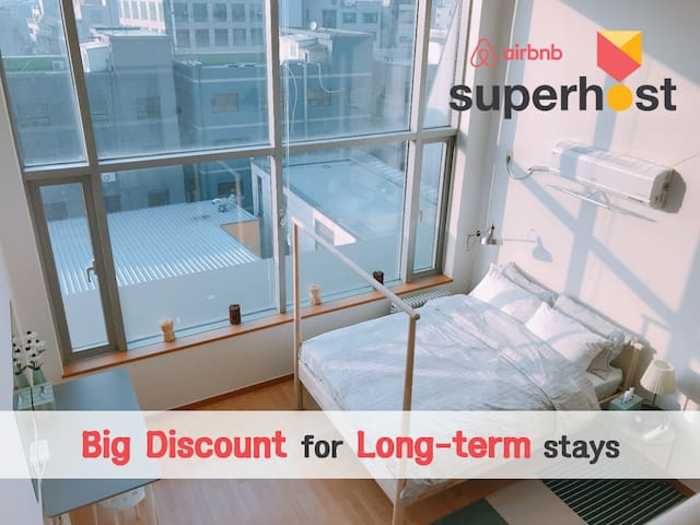 BigDiscount-LongStay/Hongdae/Subway connected/Mint