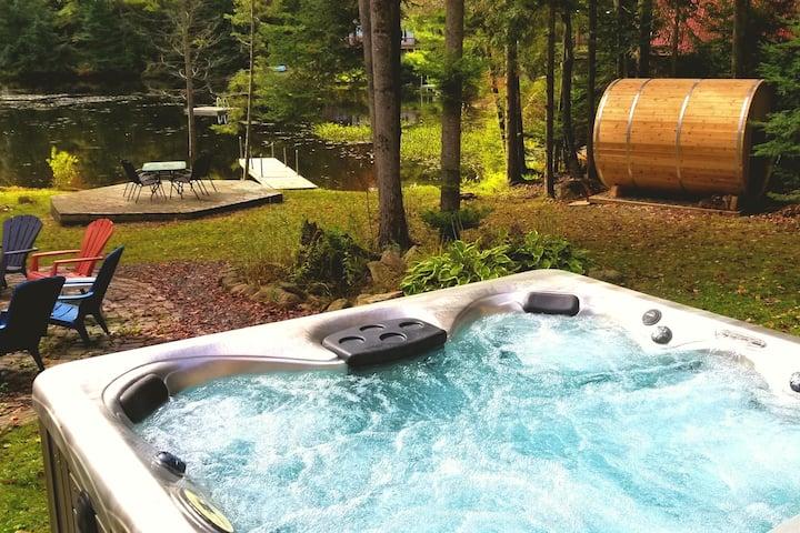"Trenanthia ""Woody"" Cottage (Hot Tub,Sauna,GamesRm)"
