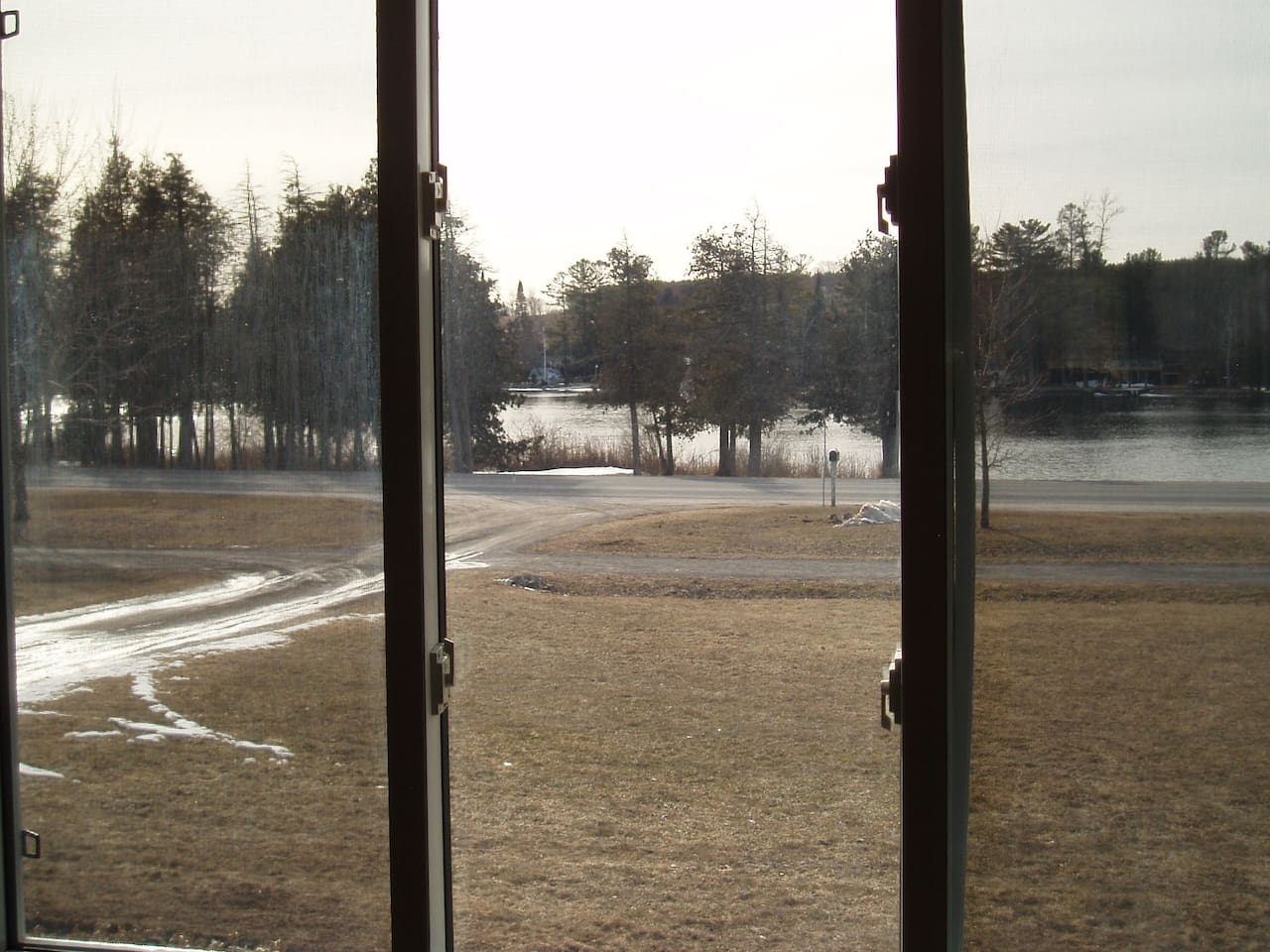View out the kitchen window.