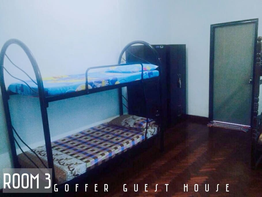ROOM 3 ( MYR 130) - 3 DOUBLE DECKER - AIRCOND - TV - BATHROOM ATTACHED - ACCESS TO VERANDOR