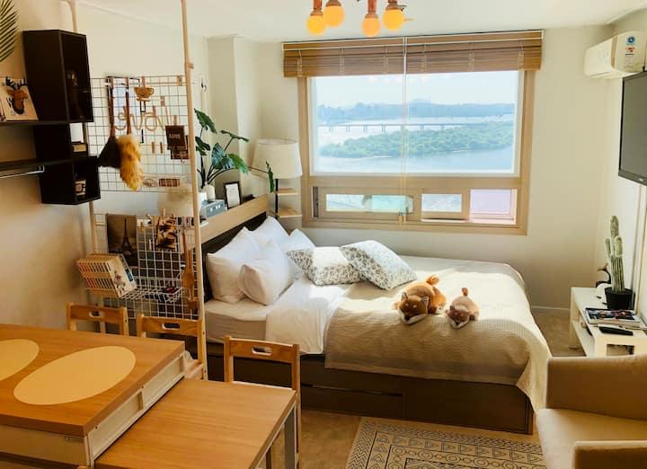 SNUG HOUSE/Best /Hongdae/River view/마포역/Mapo/서울/홍대