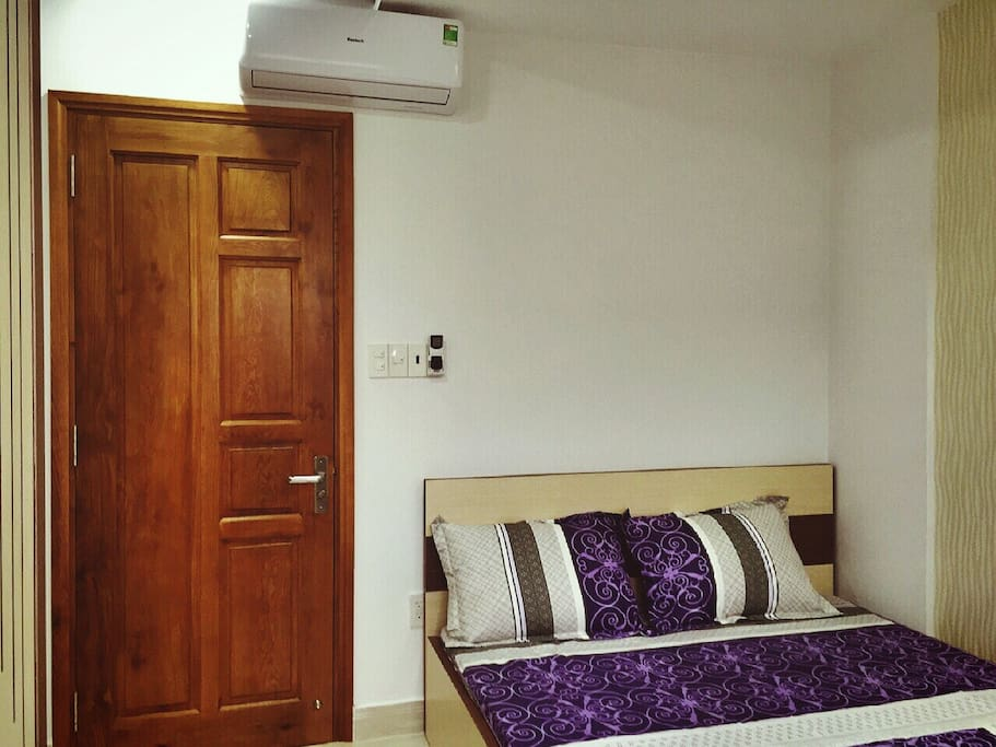 The bedroom on 4th floor with television,air-conditioner, Wardrobe, free wifi...