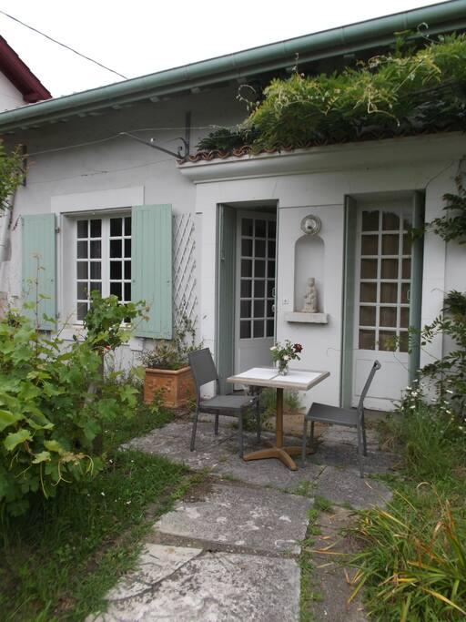 petite terrasse extérieure