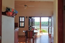 View through Studio to veranda
