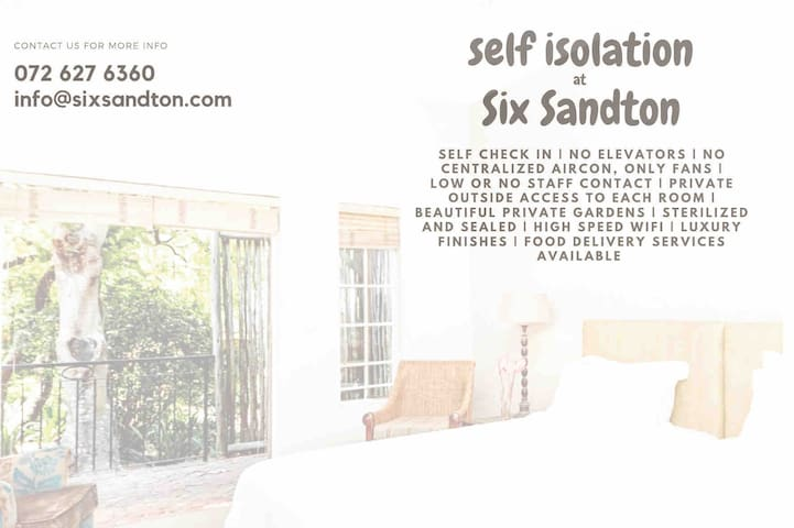 SIX SANDTON GUESTHOUSE (free breakfast included)
