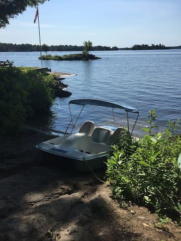 Paddle boat parking spot