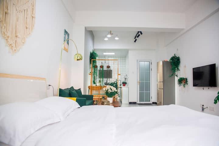 北海高铁站宁春城美式简约一居公寓