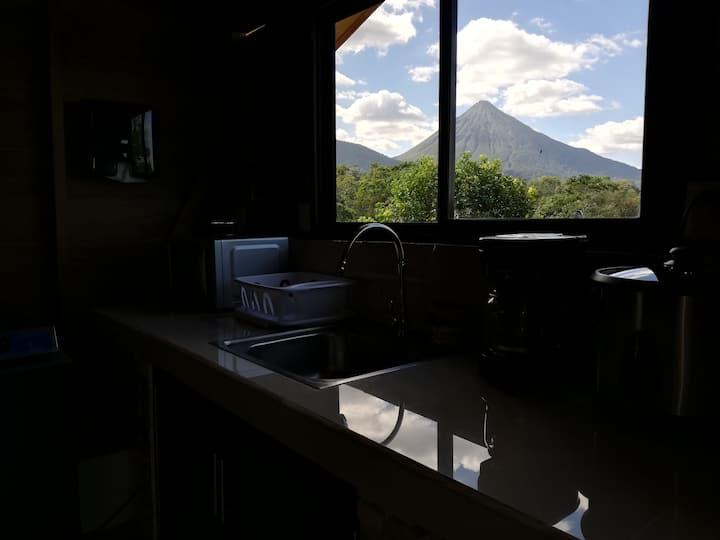 Cabaña Rural el Mirador WiFi, TV, A/C, Parking.