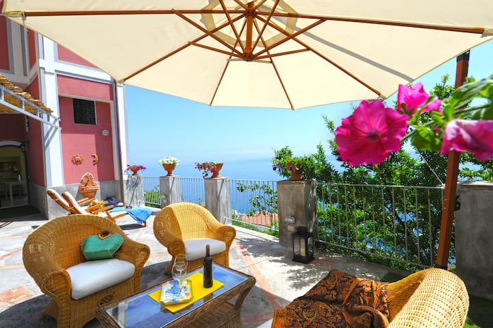 Rocco Palace -Villa Red Moon in Love- Amalfi Coast