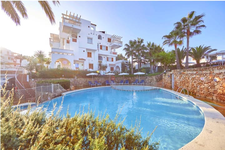 Holiday Apartment 'La Mirada 1 Gavimarhotels' with Wi-Fi, Balcony, Shared Garden & Pool; Parking Available
