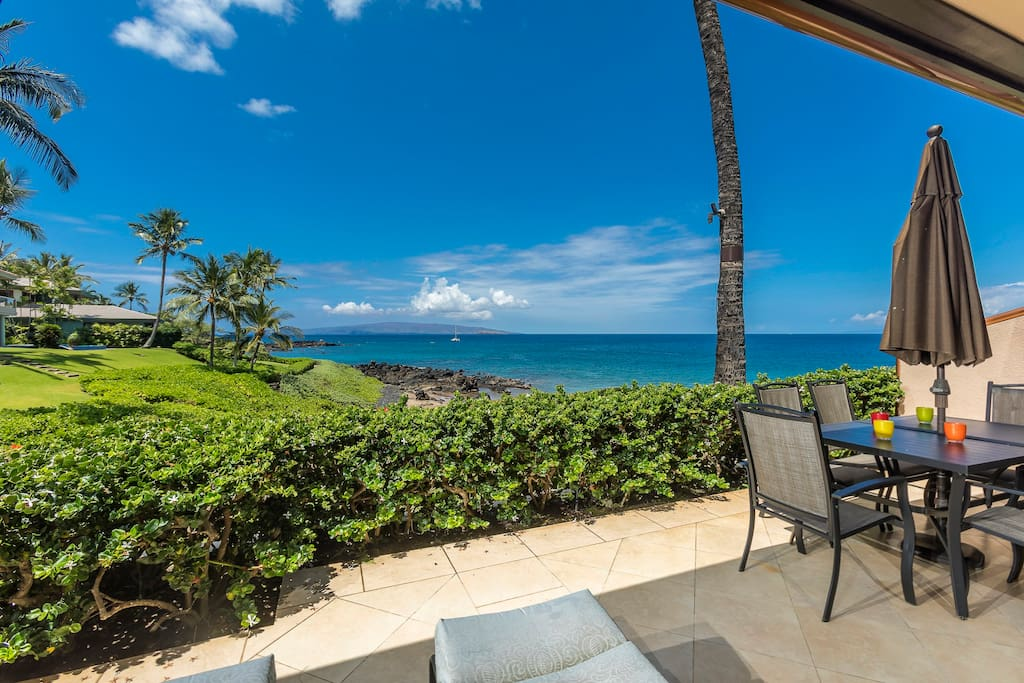 Step out onto your private lanai!