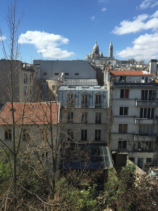 View of the Sacré Cœur from parental room