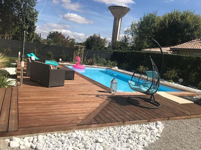 Maison R'Zen avec spa, sauna, piscine & jardin zen