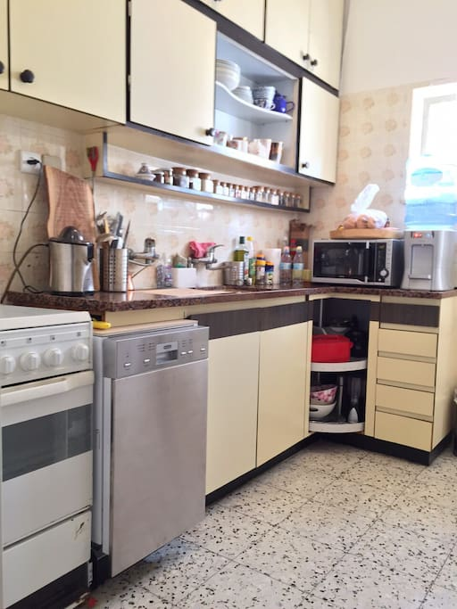 Fully equipped kitchen with dishwasher, washer and dryer.