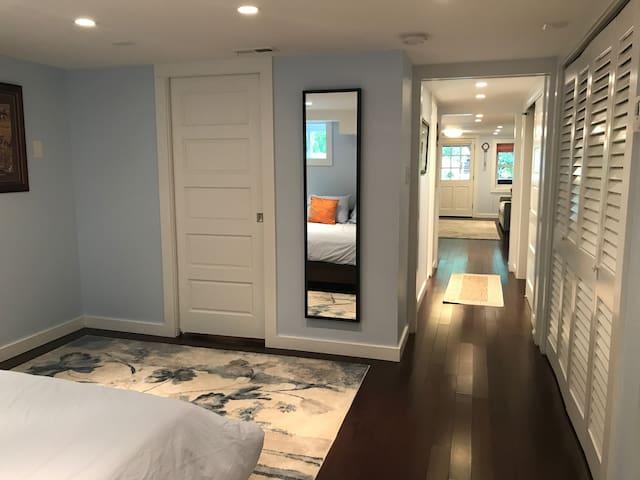 Beautiful flooring and walk-in closet