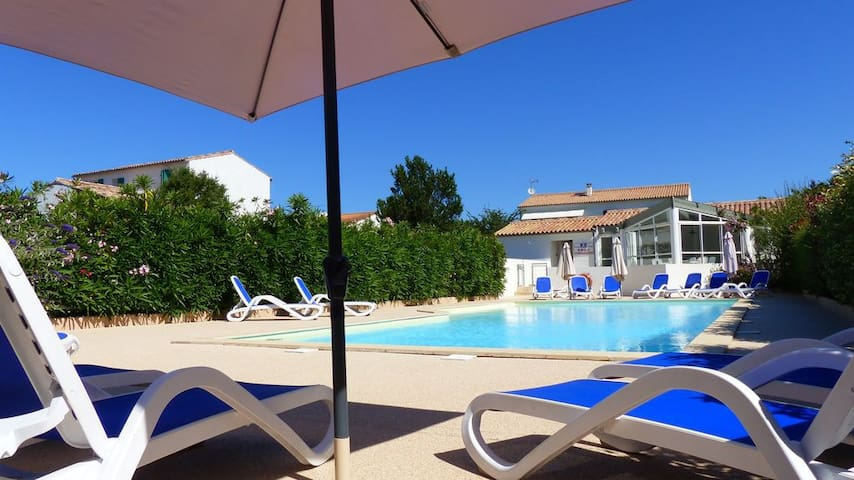 APPARTEMENT 4 PERS, TERRASSE, PISCINE ET PARKING