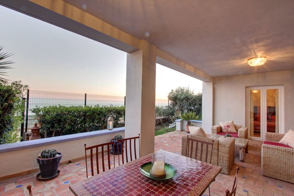 Enjoy a BBQ outside with the beach front views!