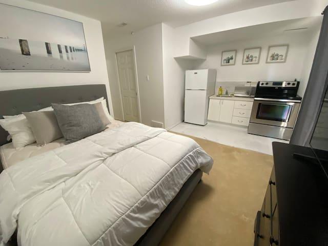 Cozy Hintonburg Guest Suite with Washer/Dryer/TV