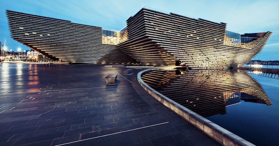 Amazing V&A Museum in Dundee, is only a 20 minute drive from Forfar.