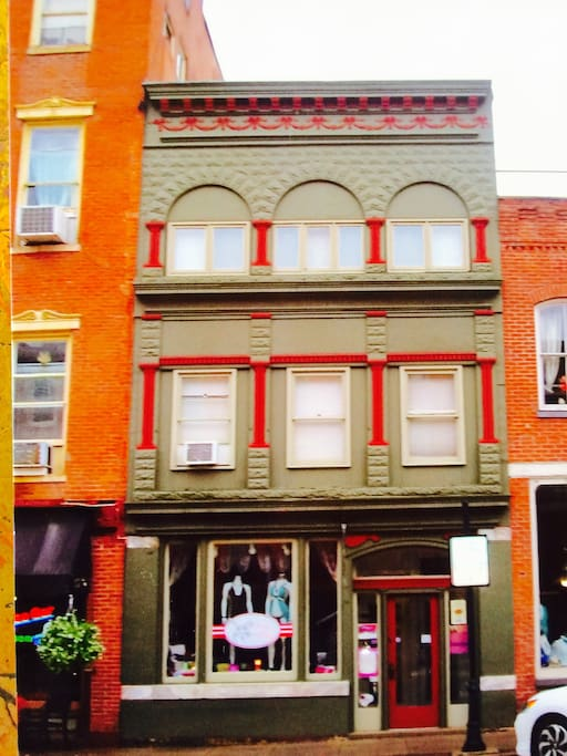 This apartment home overlooks historical Galena's Main Street