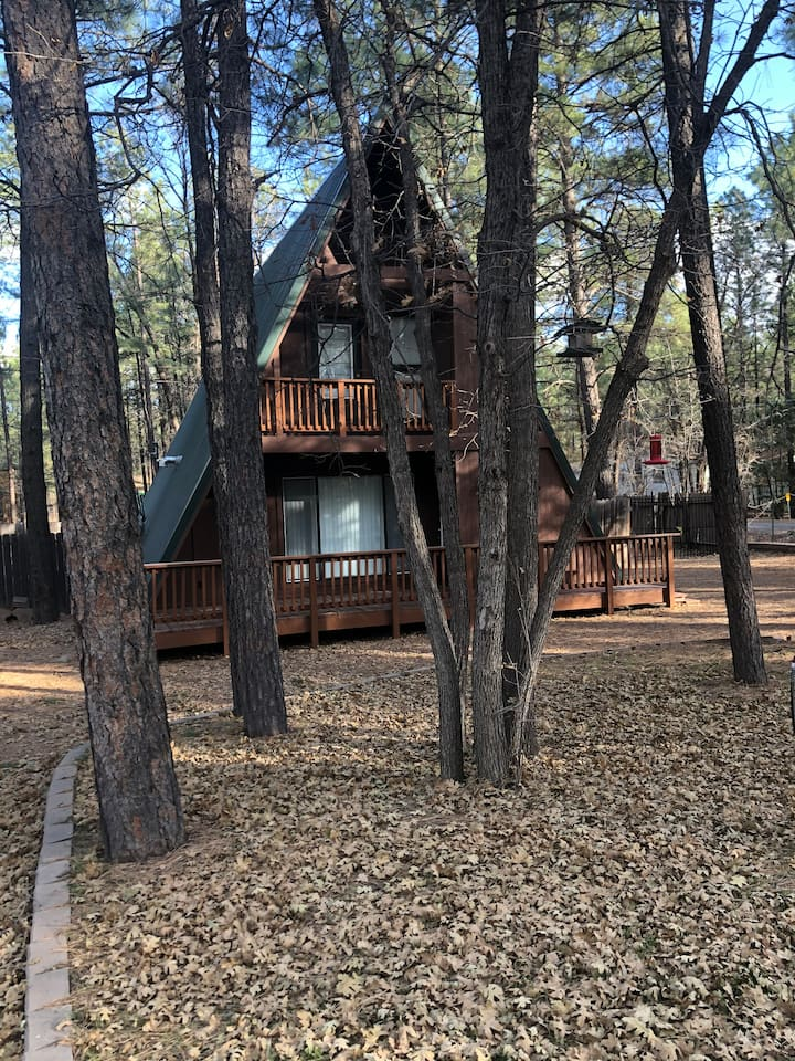 A-frame Cabin at Rainbow Lake!