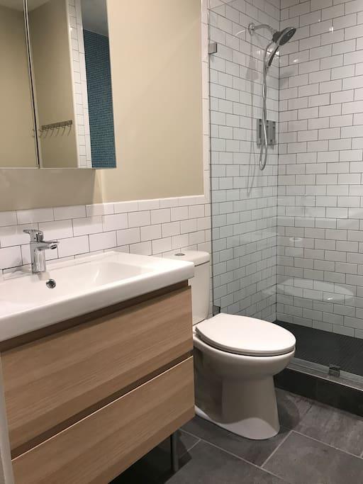 Private En-suite bathroom with shower