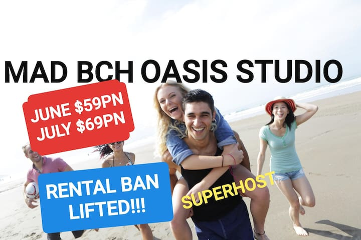 Mad Bch Oasis Studio**JUNE$59*JULY$69PN
