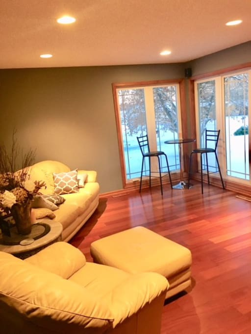 Sitting area in front of house