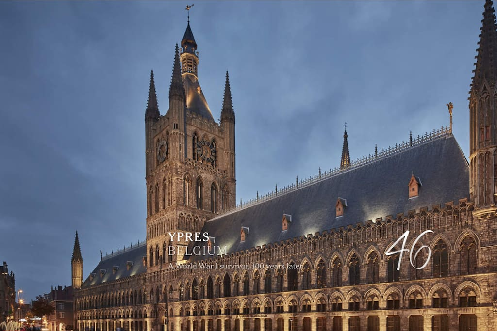 Ypres Cloth Halles with Flanders Fields museum at 5 minutes walk.