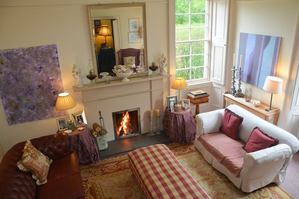 A fine drawing room to relax in, log fires in to cosy up in front of in winter.