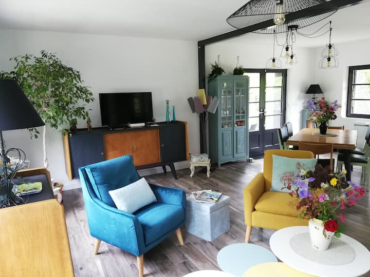 Gîte **** 5 pers 2mn  Beauval proche châteaux