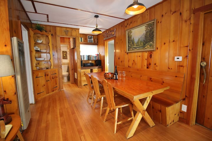 Historic Forested Cabin with Great Mountain Views