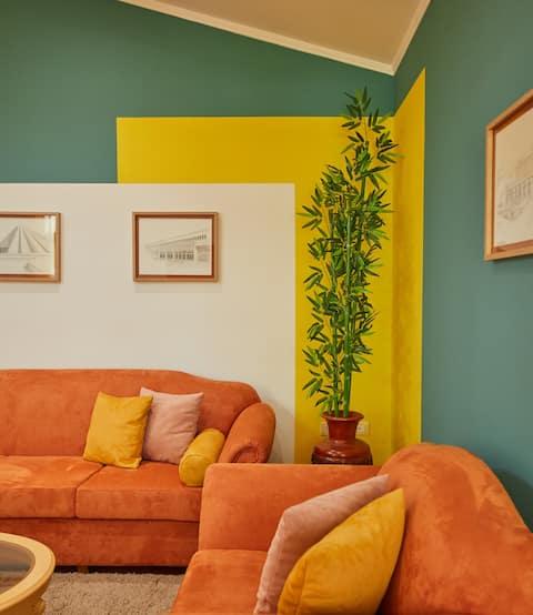 Apartament proaspăt și colorat în inima Blloku