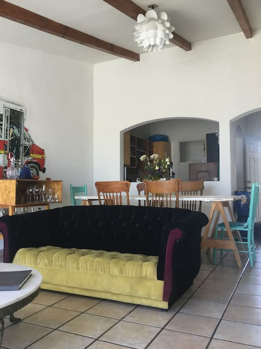 living room and dinning space