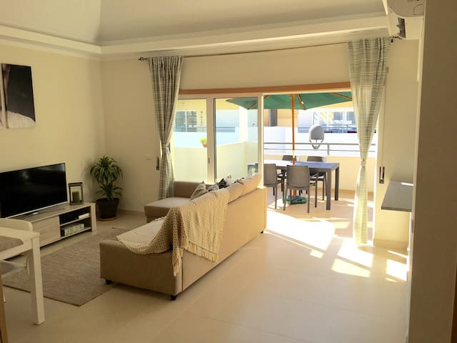 Spacious Living room to relax after a great day at the Cabanas Beach