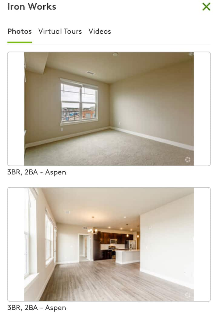 2/3 bedrooms in 3 bdr apt
