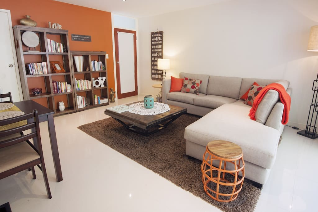 Separate lounge/living room with comfortable sofa
