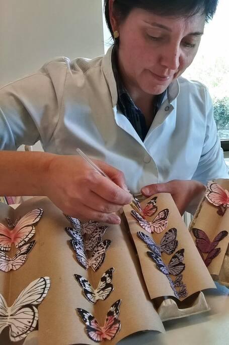Creating butterflies