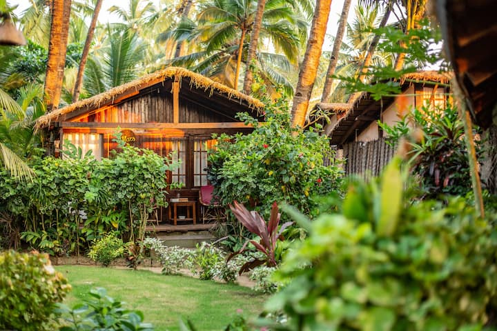 Eco-friendly Garden huts, Palolem Beach