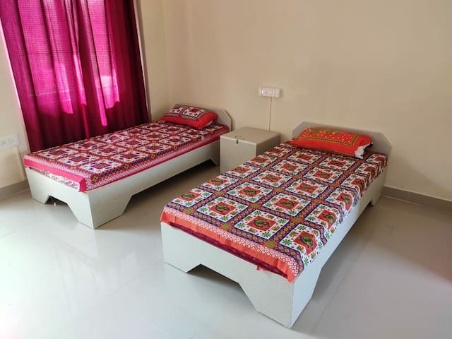 One more cot or mattress can be put according to requirement