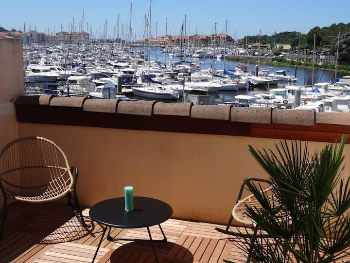 Studio avec terrasse face au port de Capbreton