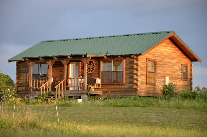 Vacation Log Cabin with Full Course Meal for 4