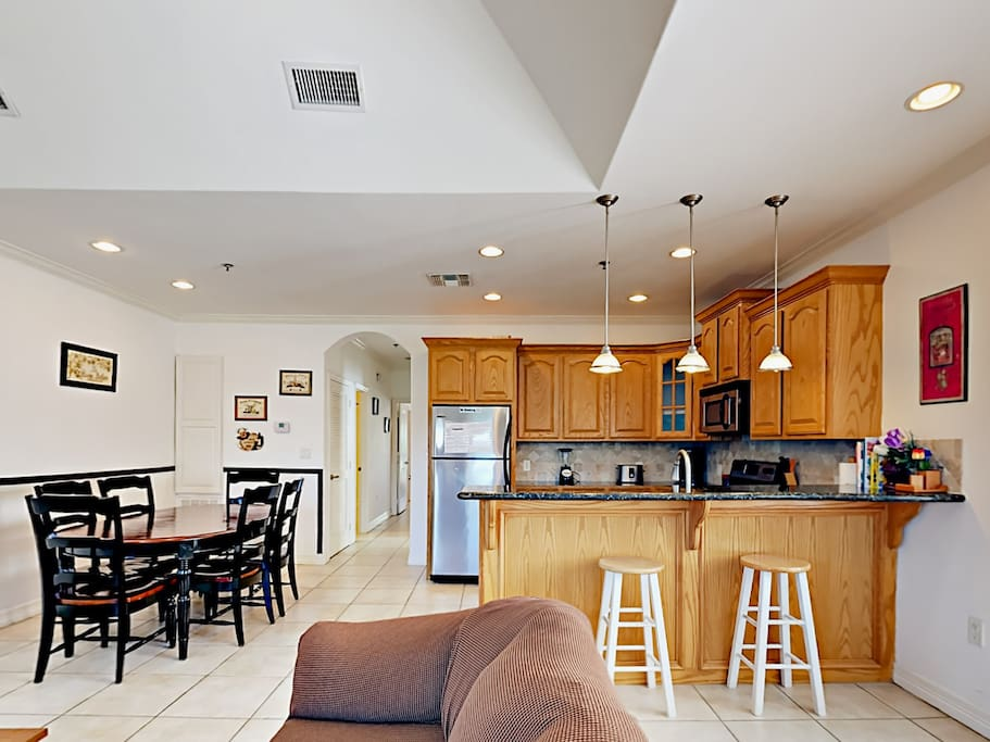 Open floor plan with plenty of space for friends to gather.