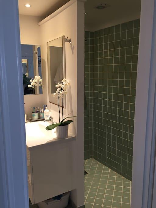 Fælles bad og toilet.