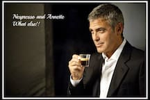 Enjoy Your FREE Coffee From The Nespresso Machine in Your Studio! Approved By George. What Else? :-)