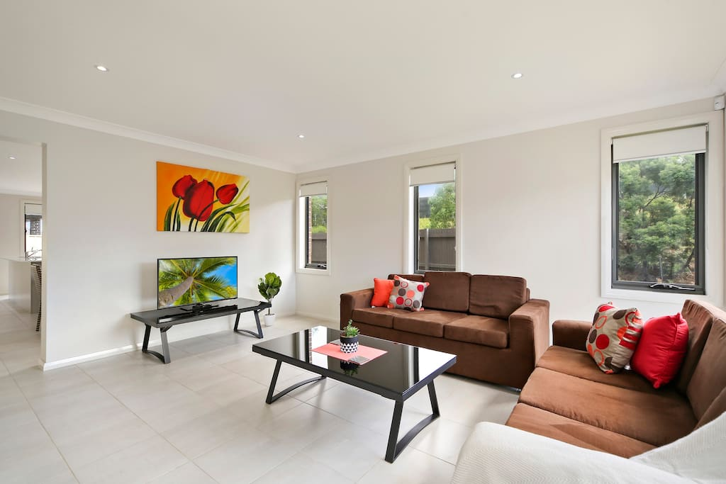 Spacious living rooms, pull out sofas available for extra guests