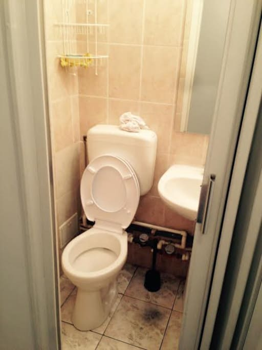 A small service toilet