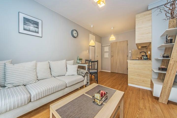 Apartament LEMON w spokojnej okolicy Pruszcza Gd.