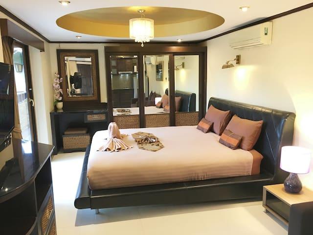 Great apartment 45 sqm in tropical resort Pattaya