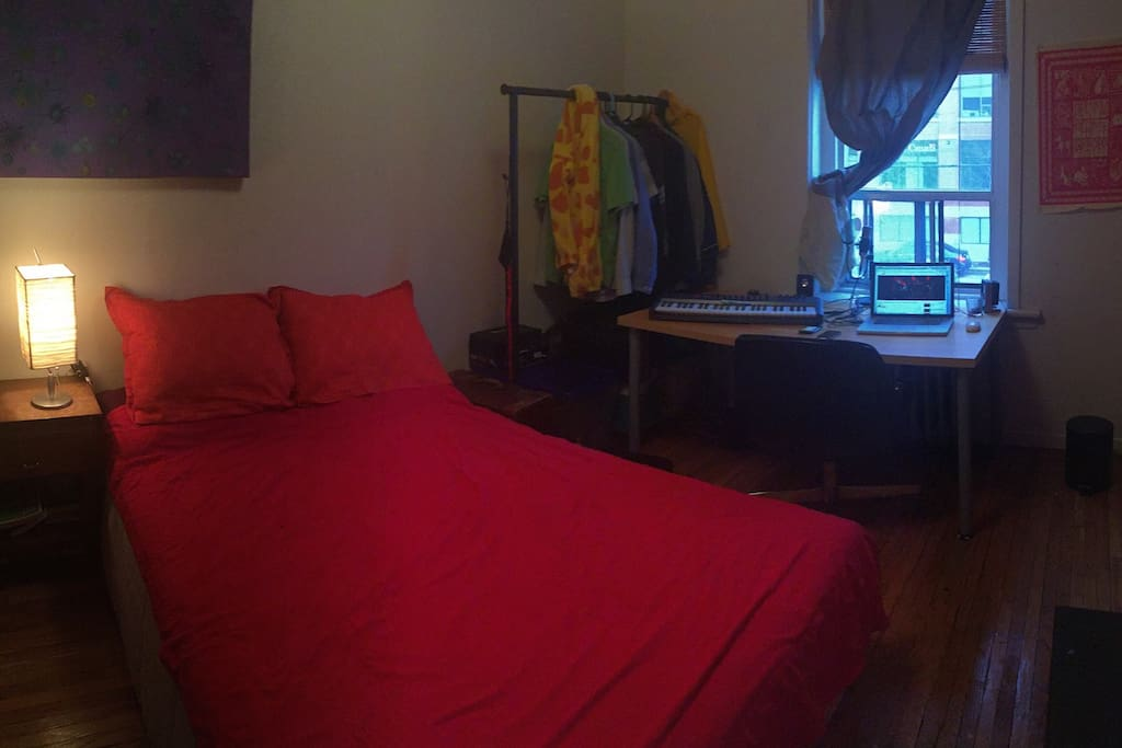 Also the bedroom!